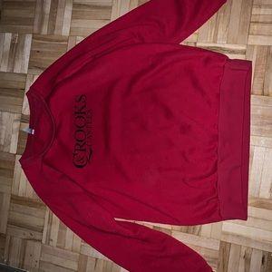 Red Crooks & Castles sweatshirt